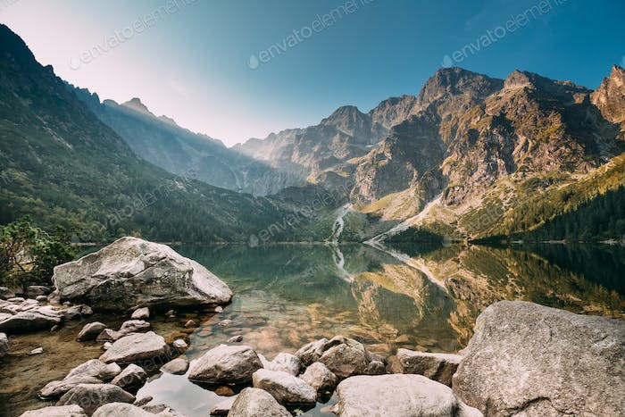 Tatra National Park, Poland. Small Mountains Lake Zabie Oko Or M