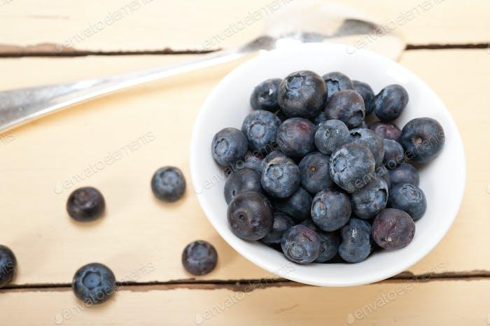 fresh blueberry bowl