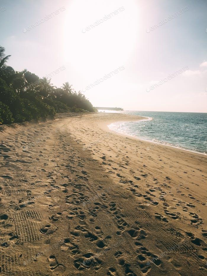 Maldives island luxury resort beach