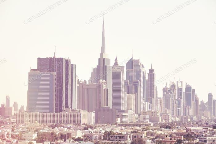 Dubai skyline, United Arab Emirates.