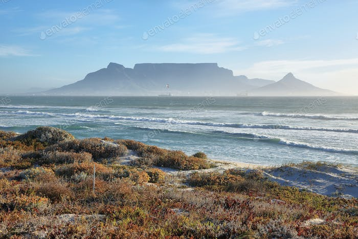 Views of Table Mountain at dawn