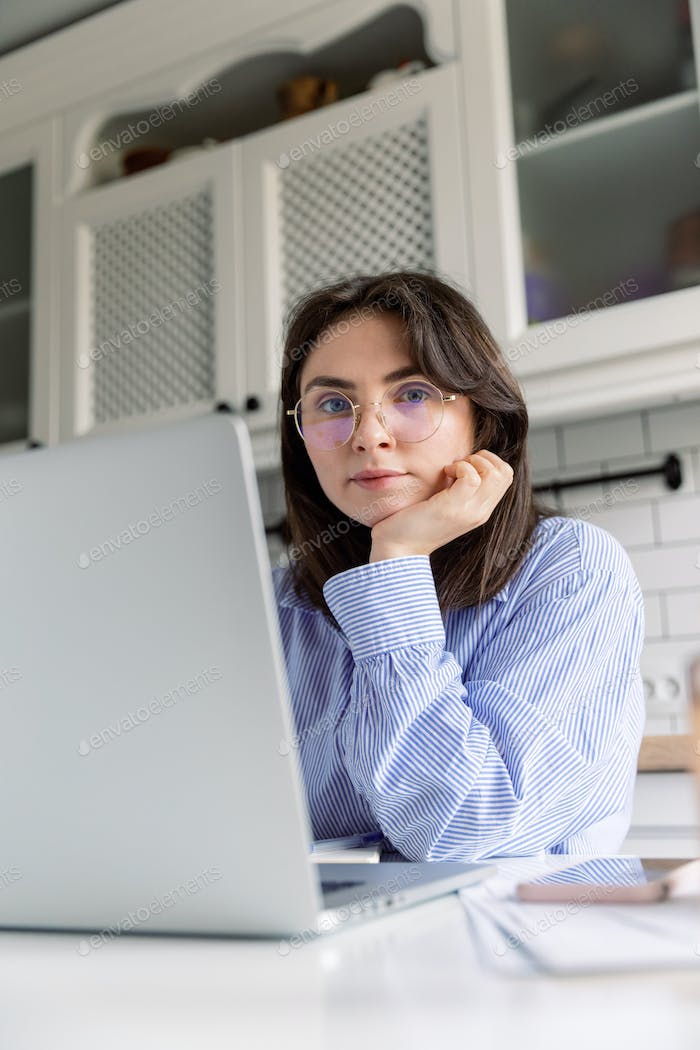 Businesswoman, work from home, distance education, online learning