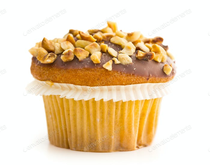 Sweet hazelnut muffin.