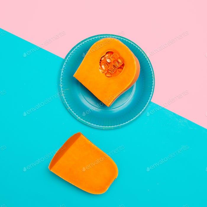 Pumpkin Raw Vegan Minimal Art Style