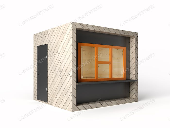 Modernes Design Store Stand 3D Rendering