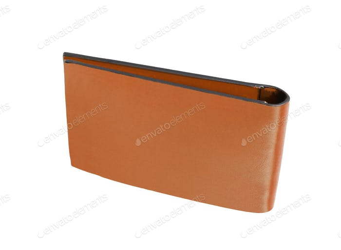 men's leather wallet isolated on white background