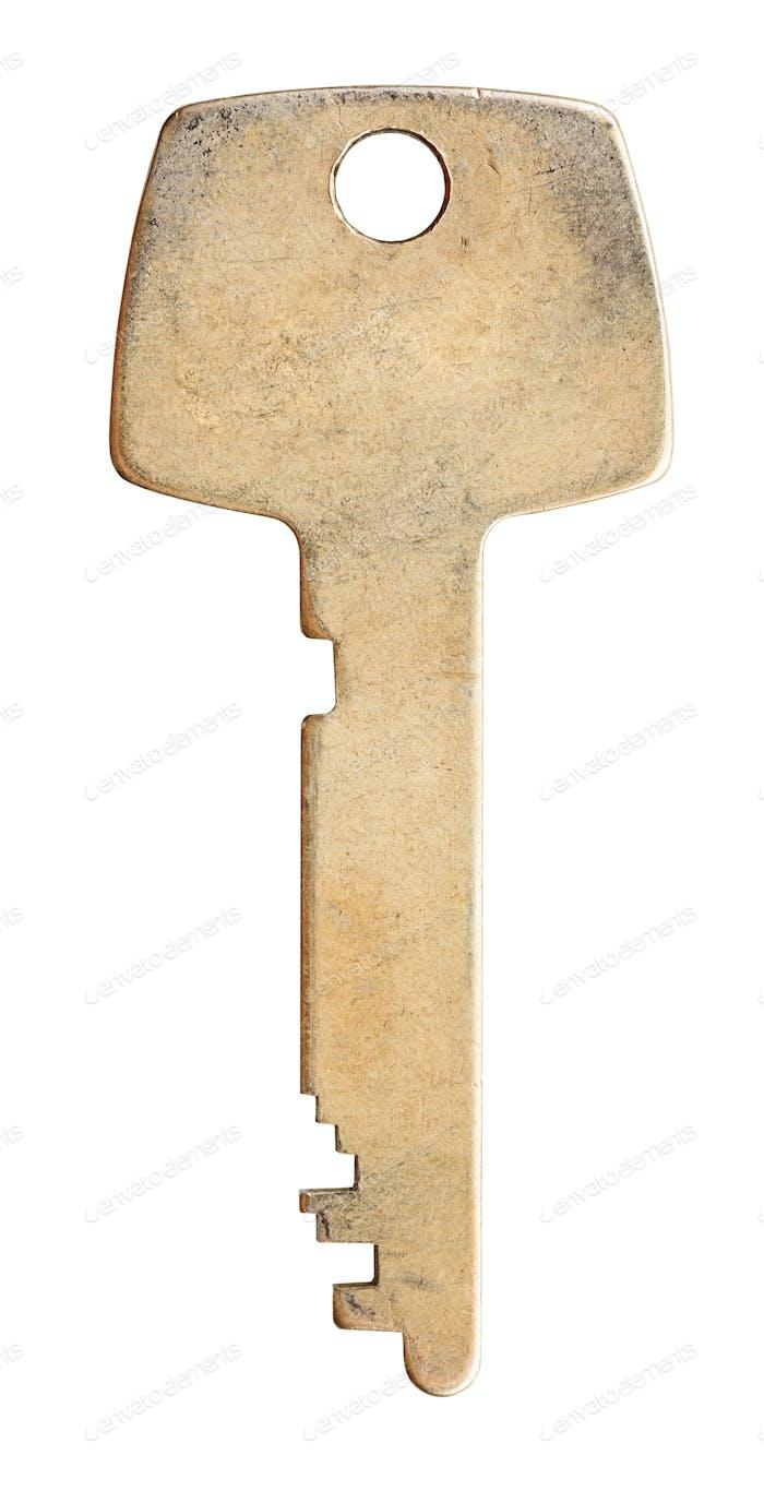 one brass flat key
