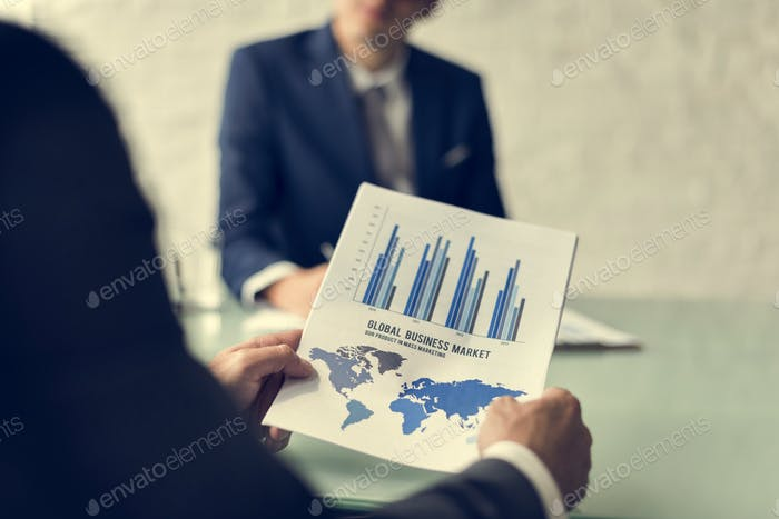 Business Brainstorming Graph Chart Report Data Concept