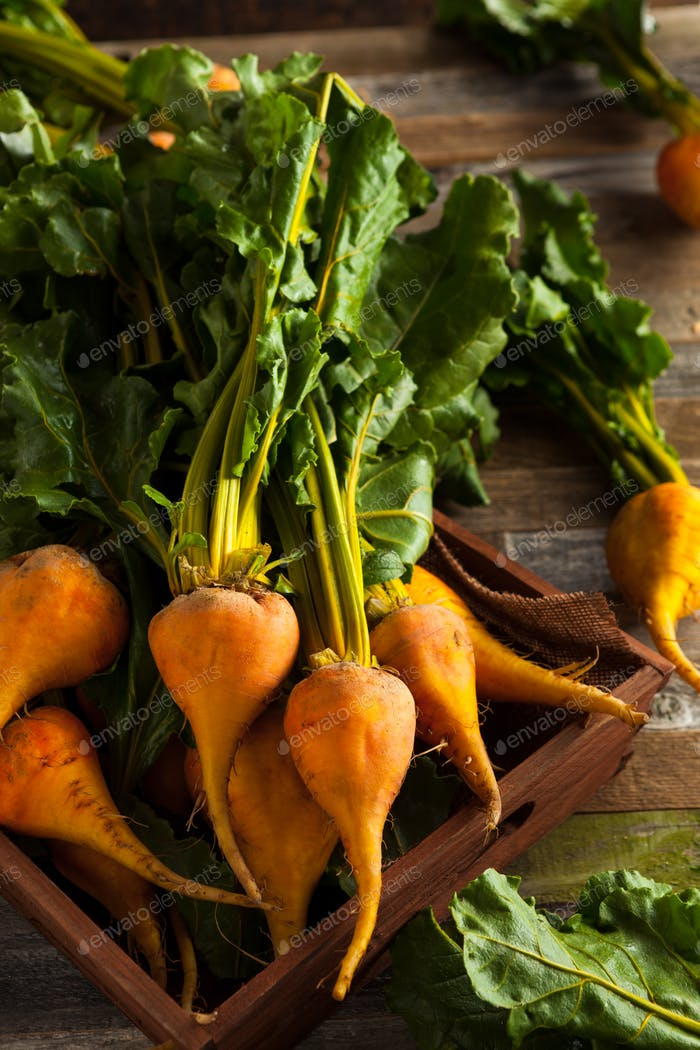 Raw Organic Golden Beets
