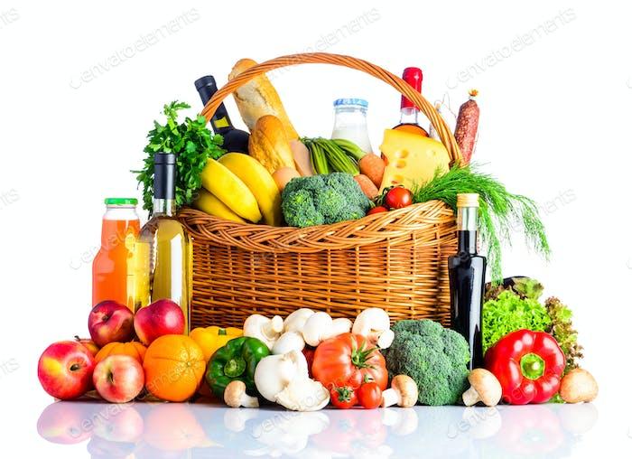 Gesunde Ernährung Isolate auf weißem Hintergrund