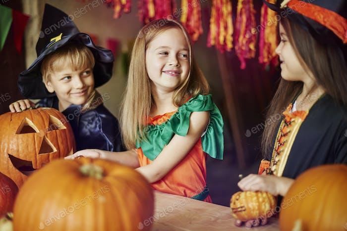 Kürbis als Symbol von Halloween
