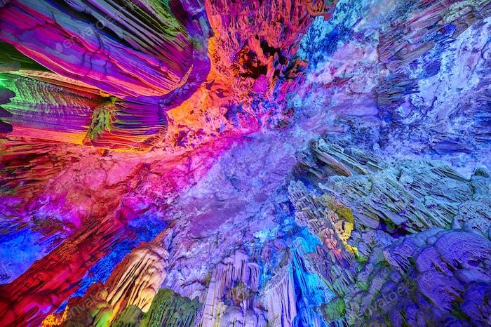 Die Reed Flöte Höhle in Guilin, China.