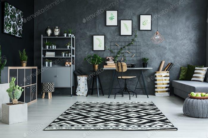 Cyan living room