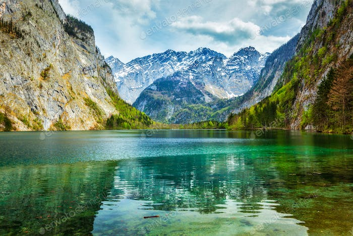 Obersee - mountain lake, Germany