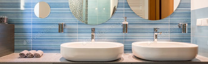 Two sinks and mirrors