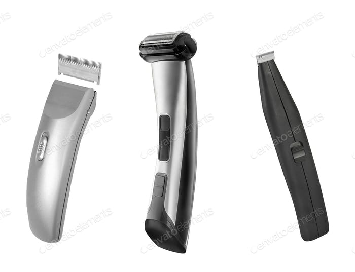 Shaving machines isolated on white
