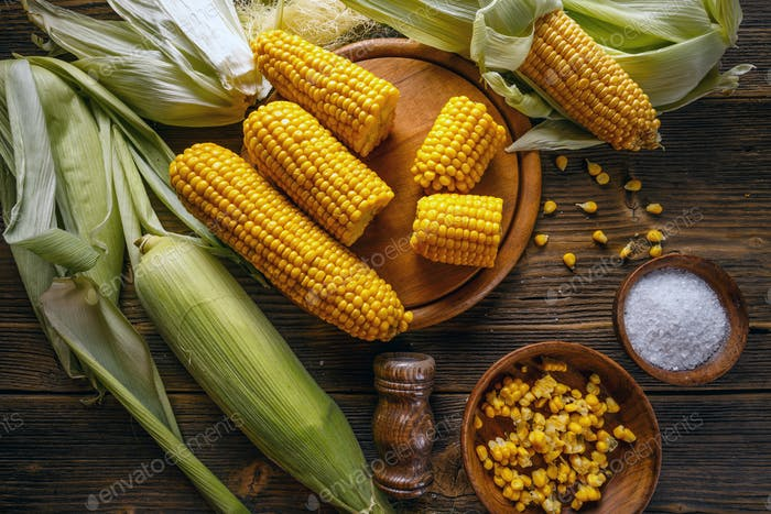 Sweet boiled corn