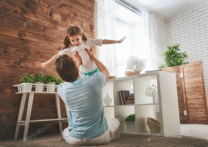 Vater und seine Tochter