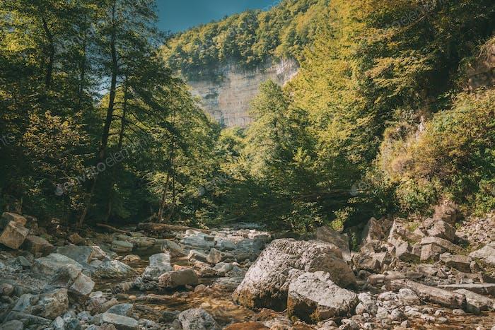 Okatse River Landscape. Khoni District Near Kutaisi In Imereti R