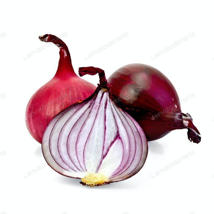 Onion purple cut