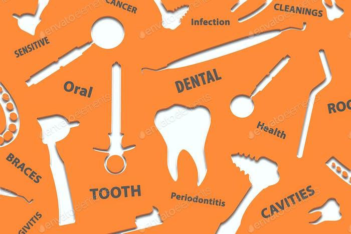 Dental-Hintergrund Illustration