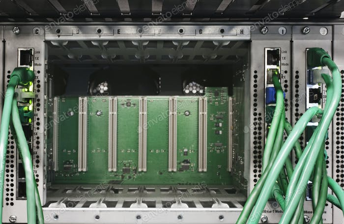 Close up of computer cords