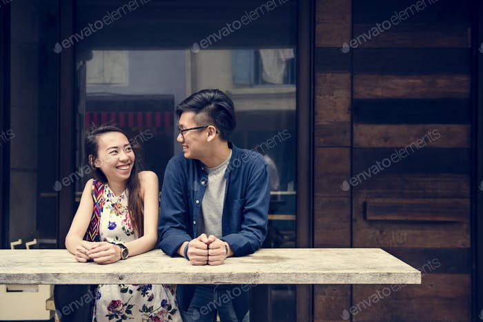 Asian couple dating