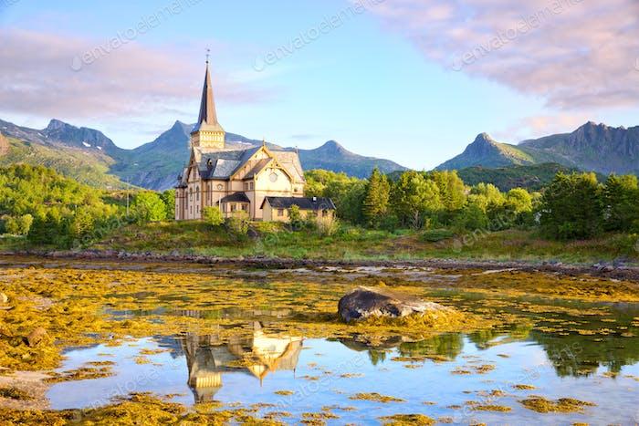 Lofoten cathedral (Vagan Church Lofoten)