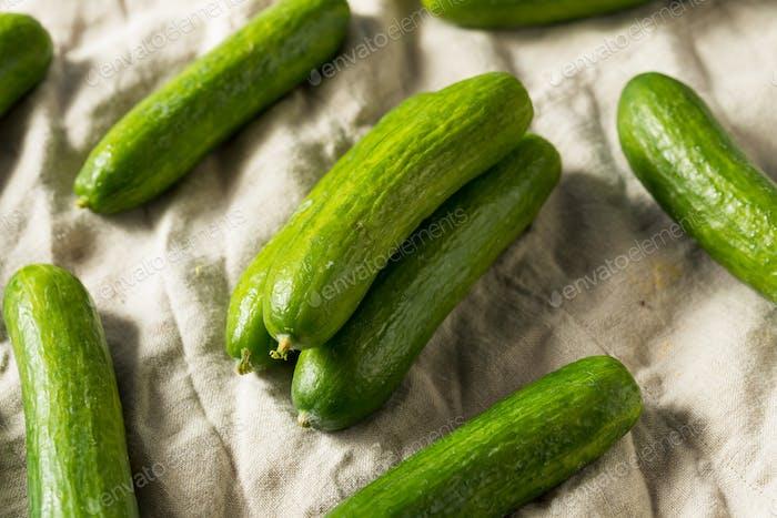 Raw Green Organic Baby Cucumbers