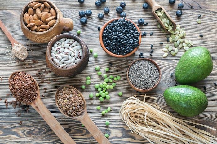 Food sources of fiber