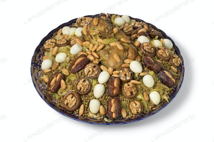 Festive traditional Moroccan Rfissa