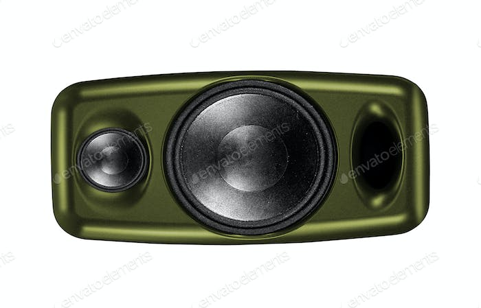 Audio speaker isolated on white
