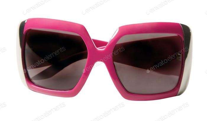 Pink rimmed vintage sunglasses