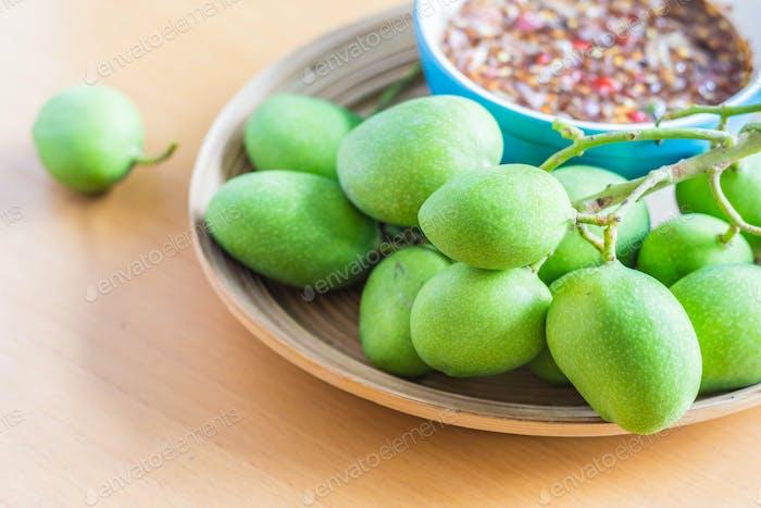Fresh fruit on tray