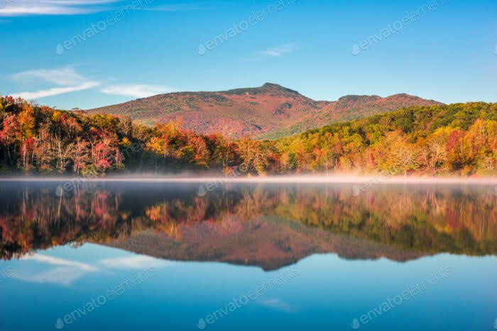 Grandfather Mountain in Fall