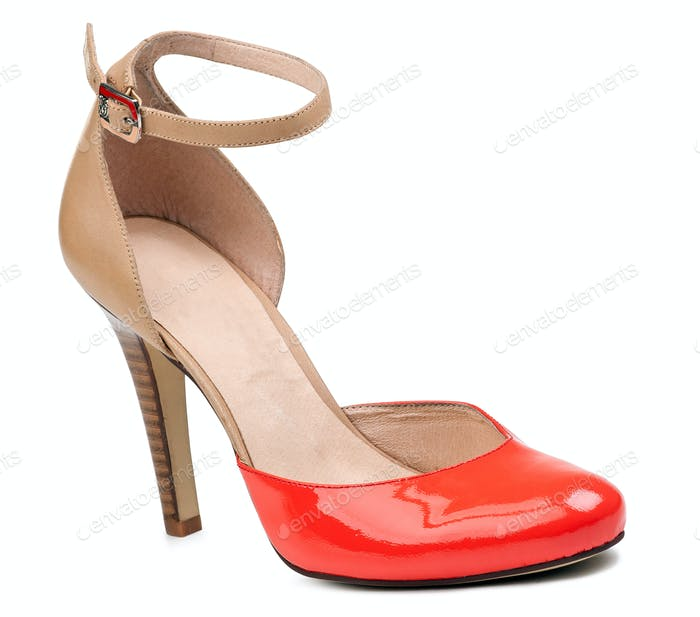 Summer fashion shoe over white background