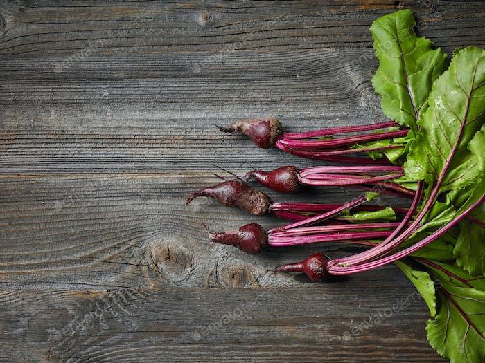 fresh raw beet roots