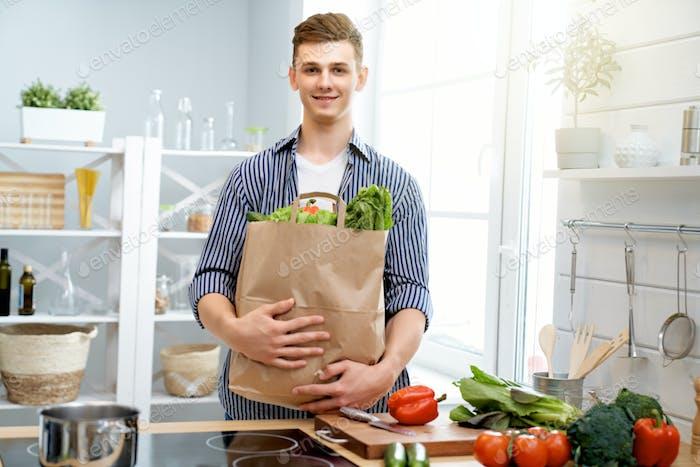 man is preparing the proper meal