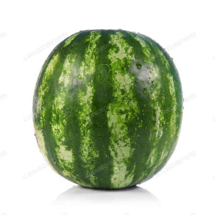 Green striped watermelon