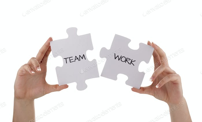 Jigsaw piece teamwork