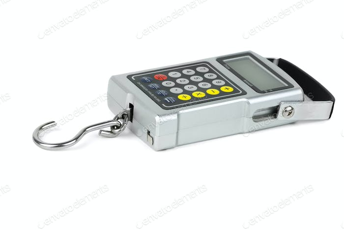 Digital fishhook weigher with built-in calculator