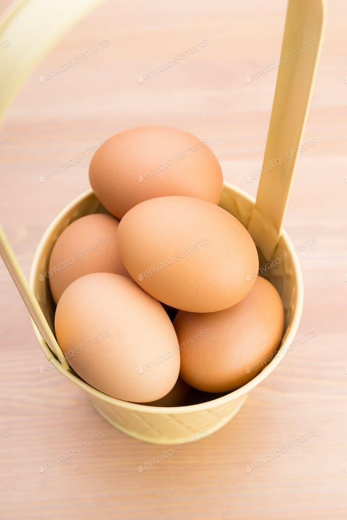 Яйцо в ведре