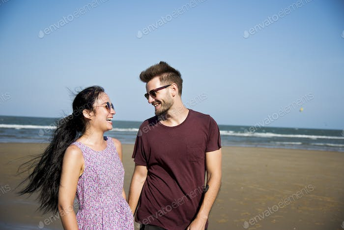 A couple on vacation