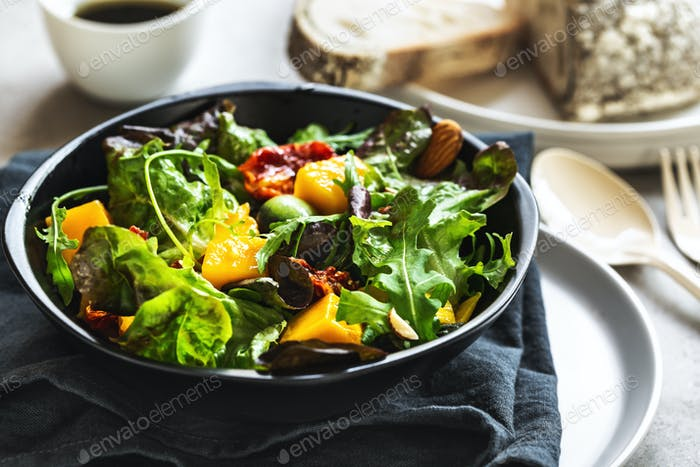 Mango,Grape and Sun dried tomato Salad with Balsamic dressing