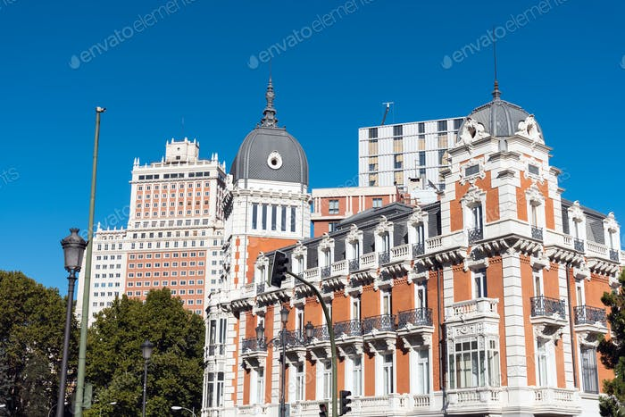 Typical buildings in Madrid, Spain