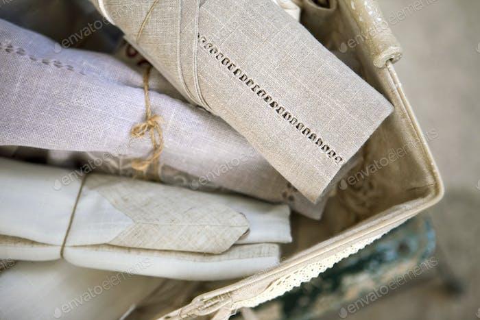 Old linen cloths