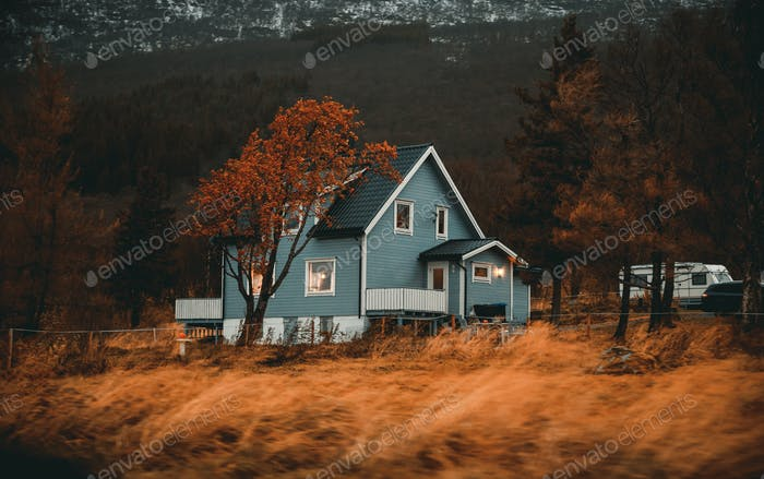 Norway, traditional wooden house