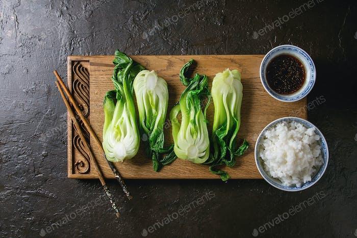 Bok Choy mit Reis