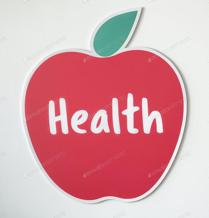 Good health fresh apple icon