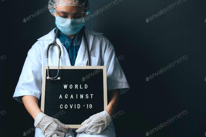 Sad Woman Doctor During Pandemic Situation
